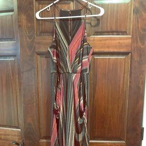BCBG Generation Striped Midi Dress